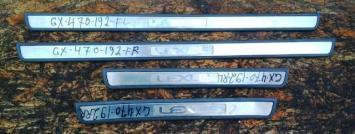 Накладка порога Lexus GX470 комплект 67911-60020-B0