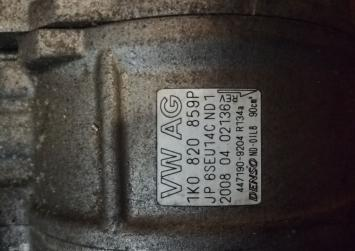 Компрессор кондиционера на CCZ Audi A3 8p