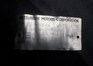АКПП W4A4B3307 Mitsubishi 4G69  W4A4B3307