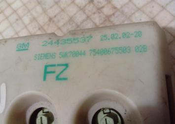 Дисплей информационный для Opel Zafira (F75) 24435537