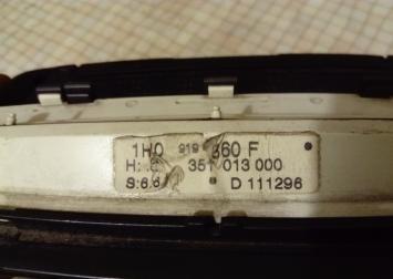 Панель приборов для VW Golf III/Vento Diz