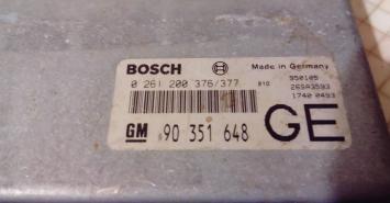 Блок управления двигателем Opel Vectra A Calibra A 2361200376