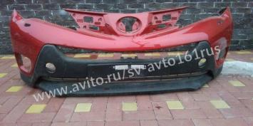 Бампер передний Тойота Рав 4 Toyota Rav 4 красный