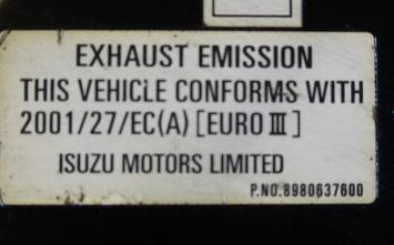 Накладка Крышка двигателя Isuzu