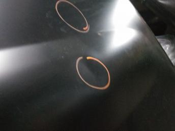 Мерседес W164 капот GL GL с Повреждениями