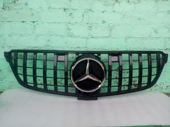 Решетка радиатора Mercedes W 166 GLE GT чер