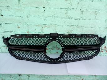 Решетка радиатора Mercedes W205 C 2019 6,3 черная