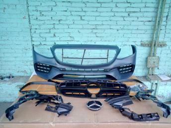 Бампер передний Мерседес E 213 AMG S комплект