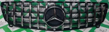 Решетка радиатора Mercedes W 176 A GT хром рестайл