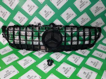 решетка радиатора Mercedes W 218 GT Line amg  чер