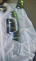 Диффузор + насадки Mercedes W166 ML/GLE 2012
