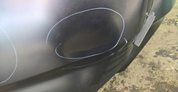 Мерседес Mercedes Benz капот С W 204 бой