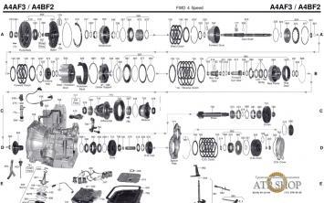 A4AF3, A4BF3 Запчасти АКПП Hyundai, Kia