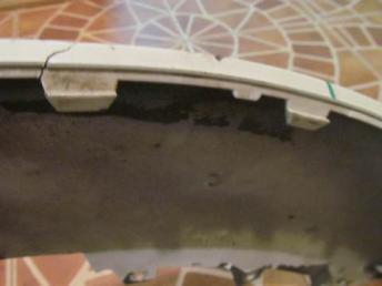 Спойлер AUDI Q5 губа переднего бампера АУДИ  8R0807061D