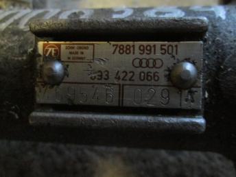 Рулевая рейка Audi 80 B3 гидравлика бу 893422066  X