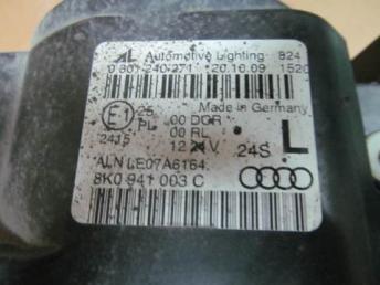 Фара левая Audi A4 би-ксенон 2008 - 2010 БУ  8K0941029AJ