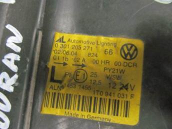 Фара левая VW Touran ксенон 2003 - 2006 бу 1T0941039K