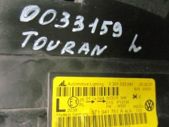Фара левая Touran ксенон адаптивная 2007 - 2010 бу 1T1941753A