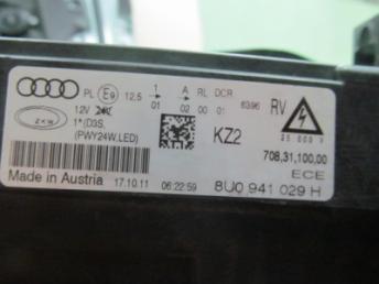 Фара ксенон левая AUDI Q3 (2012-2014) БУ 8U0941043