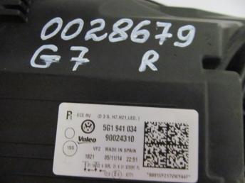 Фара ксенон правая VW GOLF 7 БУ  5G1941044