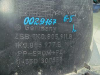 Подкрылок передний левый VW GOLF 5 (2004-2009) / VW GOLF PLUS (2005-2009) задняя часть БУ 1K0805977B
