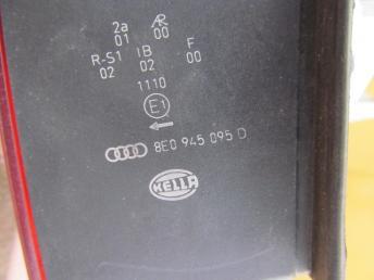 Фонарь задний левый AUDI A4 (2001-2005) наружный седан БУ  8E5945217