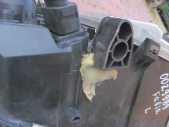 Фара галогенная левая SKODA FABIA (2000-2004) БУ 3 кронштейна восстановлены  6Y1941015H