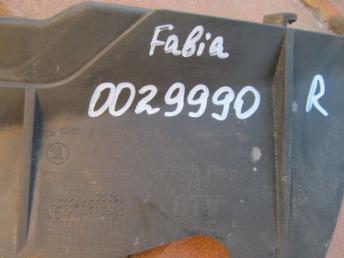Воздуховод радиатора правый SKODA FABIA (2000-2008) БУ  6Y0121284