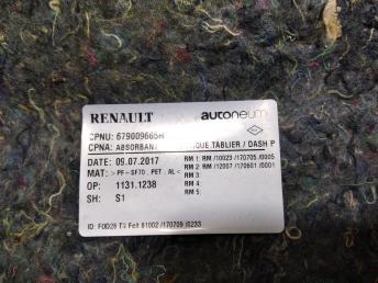 Шумоизоляция капота Renault Duster 679009665R