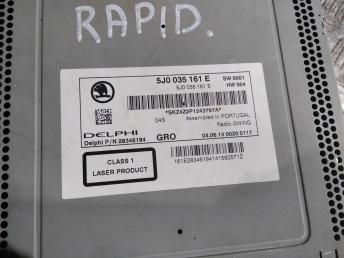 Магнитола Skoda Rapid 5J0035161E