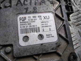 Блок управления двигателем Opel 1.8 12992406