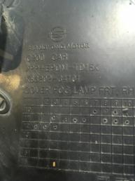 Решетка в бампер правая для Ssang Yong Actyon New 8320234101