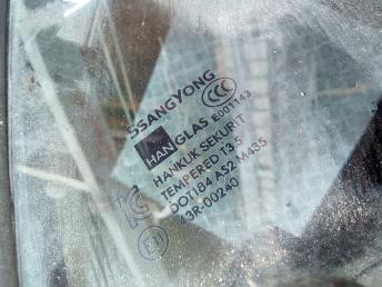 Форточка задней правой двери SsangYong Kyron 7338309000