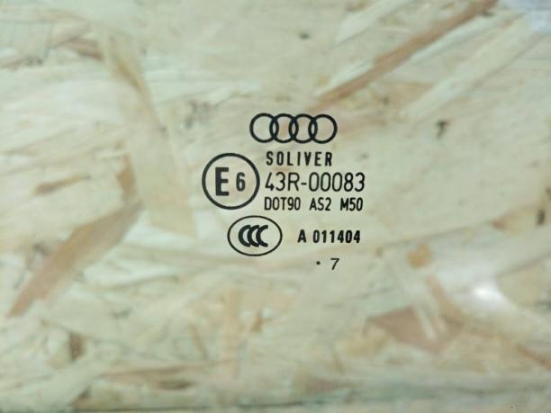 Стекло двери Audi A6 C6 переднее левое 4F0845201D