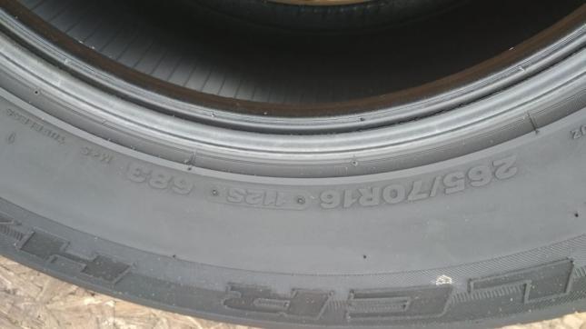 Шина б/у 265/70 R16 Bridgestone Dueler H/L 683 240