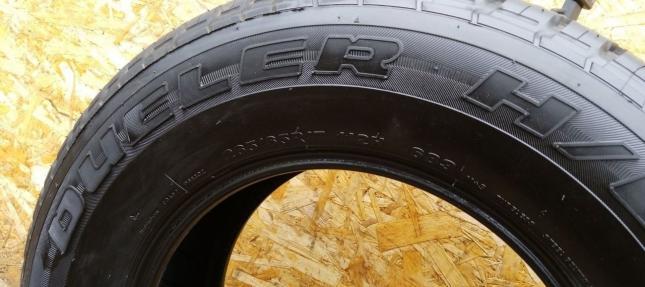 Шины б/у 265/65 R17 Bridgestone Dueler 683 168